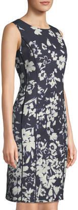 Lafayette 148 New York Evelyn Augusto Impression Floral-Print Sheath Dress