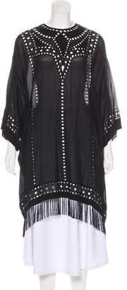 Etoile Isabel Marant Embroidered Short Sleeve Tunic