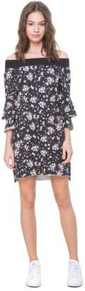Juicy Couture Beverly Garden Ruffle Sleeve Dress