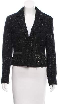 Pollini Embellished Tweed Blazer
