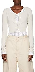 Marc Jacobs Women's Jersey Crop Cardigan - Beige, Tan