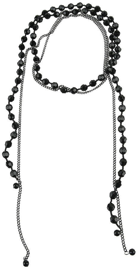 Forever 21 Faceted Bead & Chain Necklace