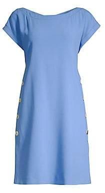 Piazza Sempione Women's Cap Sleeve Button Detail Dress