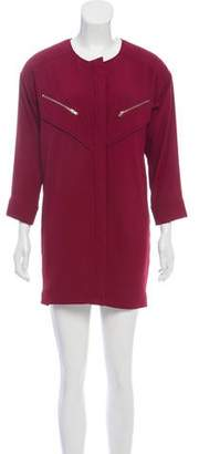 IRO Clelia Zip-Accented Mini Dress