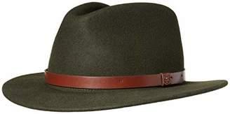 Brixton Men's Messer Brim Felt Fedora Hat