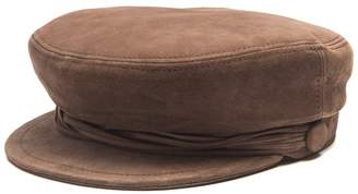 Maison Michel New Abby suede cap