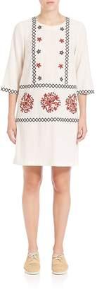 Suno Women's Embroidered Shift Dress