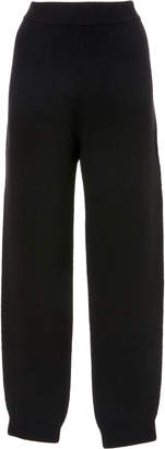 Sally LaPointe Felted Cashmere Side Slit Knit Pant