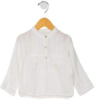 Tocoto Vintage Girls' Button-Up Long Sleeve Top