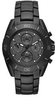 Michael Kors JetMaster IP Stainless Steel Chronograph Bracelet Watch