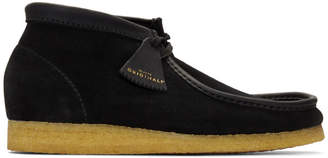 Clarks Black Made In Italy Wallabee Boots