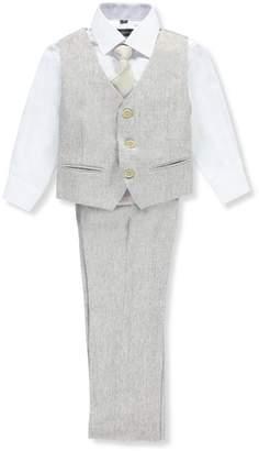 Kidsworld Kids World Little Boys' 4-Piece Vest Pant Set Outfit