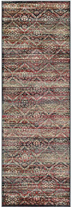 "Couristan Closeout! Haraz HAR446 Red/Black 2'7"" x 7'10"" Runner Rug"