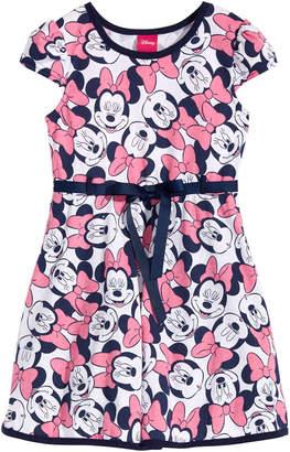 Disney Disney's Little Girls Minnie Mouse Fit & Flare Dress