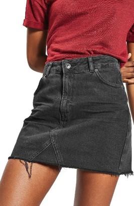 Women's Topshop Raw Hem Denim Miniskirt $55 thestylecure.com