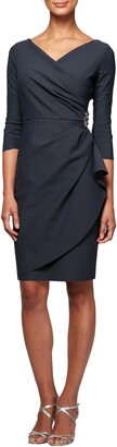 Alex Evenings Embellished Ruched Sheath Dress