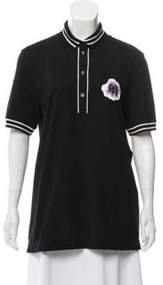 Dolce & Gabbana Embroidered Polo Top w/ Tags