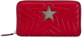 Stella McCartney zip around matelassé star wallet
