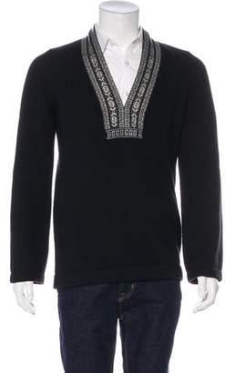 Gucci Embellished Cashmere V-Neck Sweater