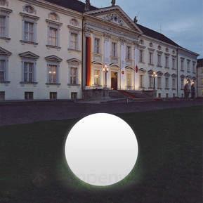 Standortfeste Kugelleuchte Snowball weiß m.Alu-Fuß