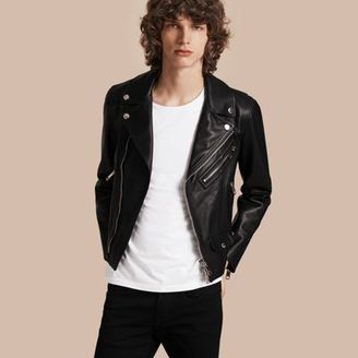 Burberry Clean-lined Leather Biker Jacket $2,395 thestylecure.com