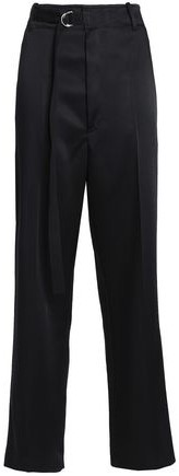 Satin-Crepe Straight-Leg Pants