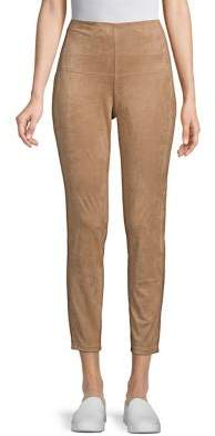 Halston H High-Rise Faux-Suede Leggings