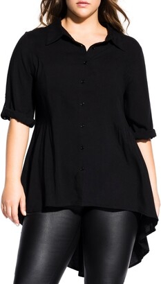 City Chic Fierce High/Low Shirt