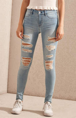 Mae Pacsun Blue Perfect Fit Jeggings