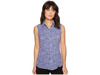 Anne Klein Sleeveless Collar Blouse Women's Blouse