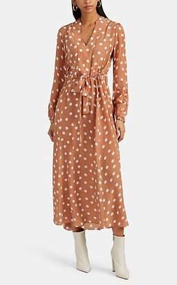 By Ti Mo byTiMo Women's Polka Dot Georgette Tie-Waist Maxi Dress