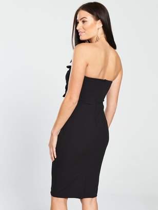 bfaa53470e3660 Very Origami Bow Bodycon Dress - Black