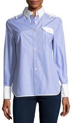Tory Burch Piper Contrast Long-Sleeve Shirt