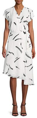Joie Bethwyn Printed Asymmetric Wrap Dress