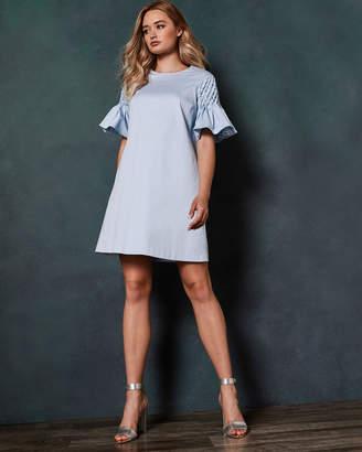 Ted Baker FAATIMA Smocked sleeve A-line dress