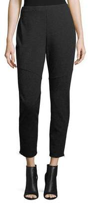 Eileen Fisher Melange Knit Skinny Ankle-Zip Pants