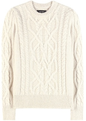 Gayle baby alpaca and merino wool-blend knitted sweater