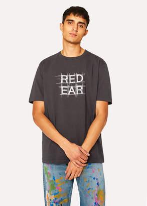 Paul Smith Men's Charcoal 'Red Ear Grid' Print T-Shirt