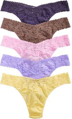 Hanky Panky Women 5-Pk. Low-Rise Lace Thong 49HOLO5