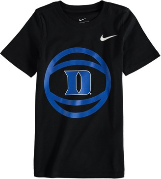 Nike Preschool Black Duke Blue Devils Basketball and Logo T-Shirt