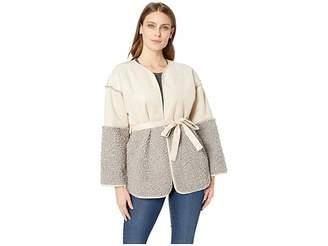 Lucky Brand Mixed Sherpa Jacket