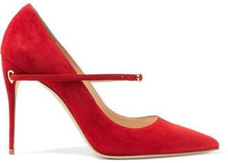 Jennifer Chamandi Lorenzo Suede Pumps - Red