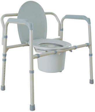 DRIVE MEDICAL Drive Medical Heavy Duty Bariatric Folding Bedside Commode Chair
