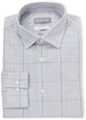 Michael Kors Blue Check Regular Fit Dress Shirt