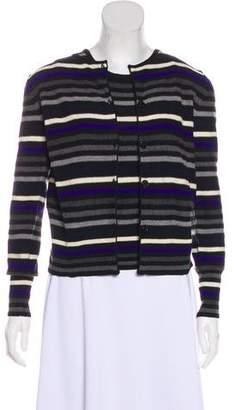 Sonia Rykiel Striped Virgin Wool Cardigan Set