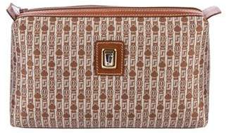 Judith Leiber Leather-Trimmed Cosmetic Bag
