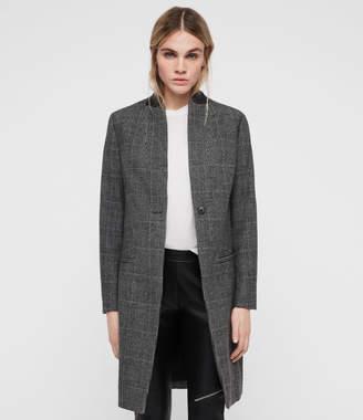 AllSaints Leni Check Coat