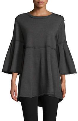 Calvin Klein Bell-Sleeve Drapey Tunic