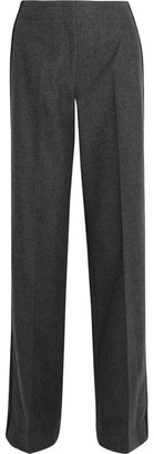 Jason Wu - Wool And Cashmere-blend Wide-leg Pants - Dark gray $1,195 thestylecure.com