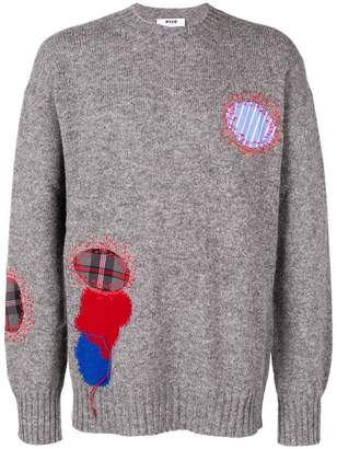 MSGM crew neck jumper